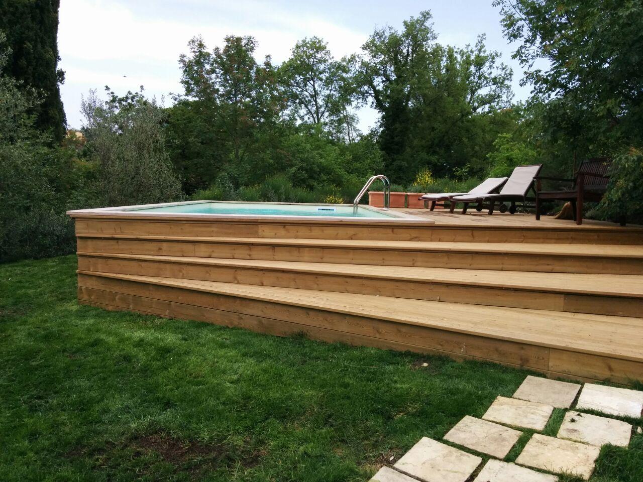 Realizzazione Piscine Fuori Terra In Legno In Toscana Garden Pool Realizzazione Piscine In Toscana