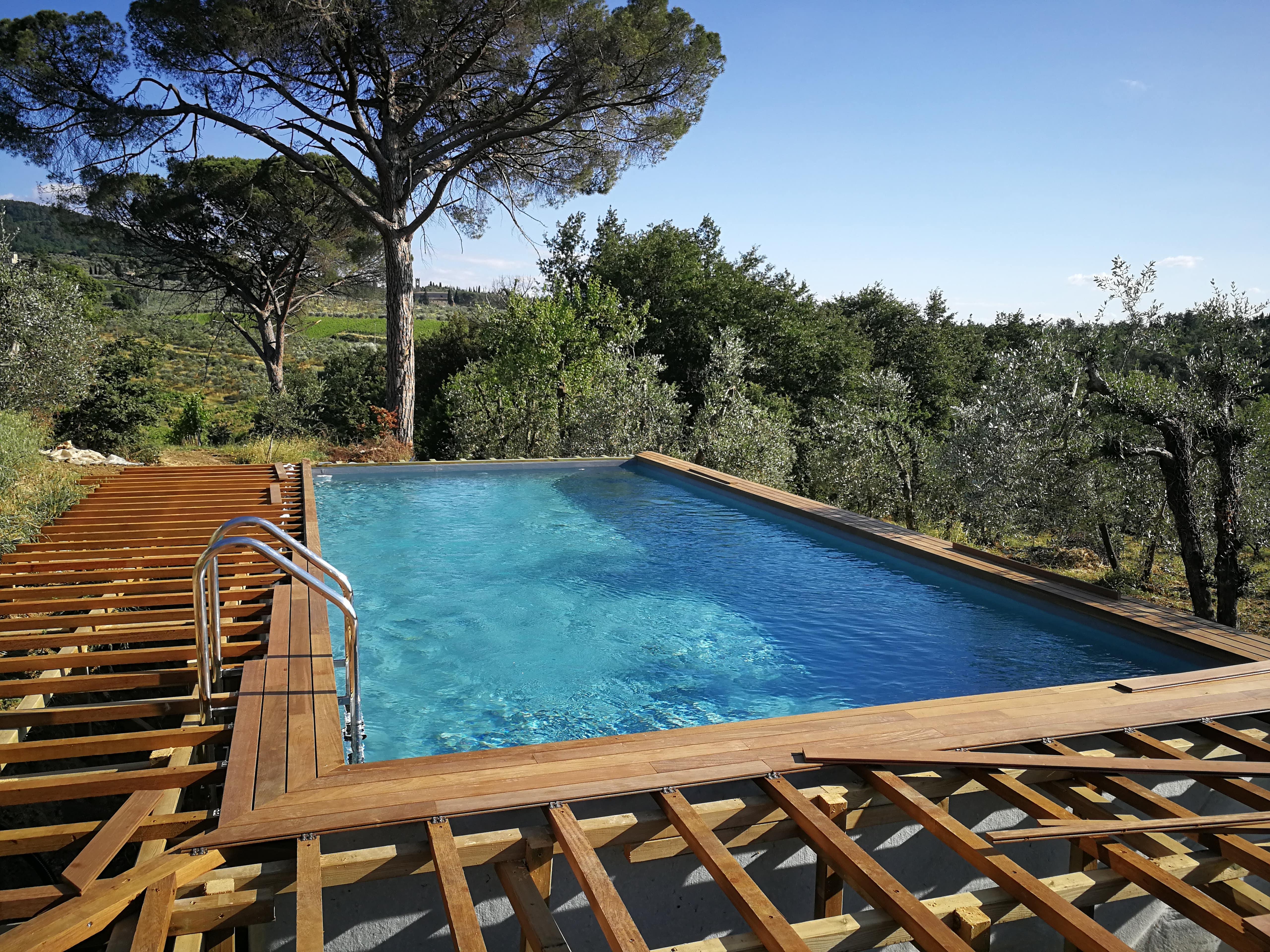 Piscina Da Esterno Fuori Terra above ground wooden pools | garden pool - realizzazione