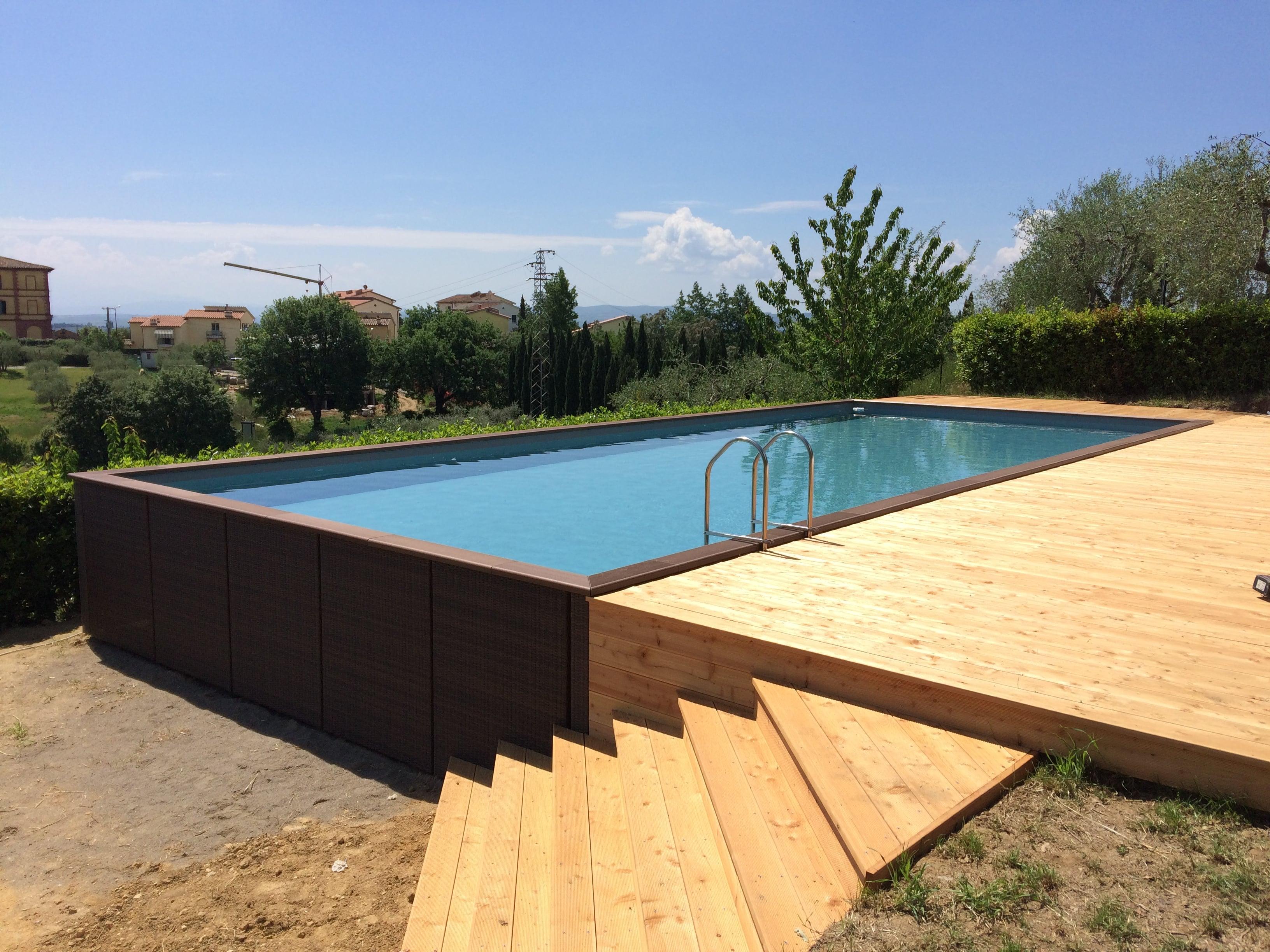 Costo Piscina Seminterrata.Realizzazione Piscine Seminterrate In Toscana Garden Pool